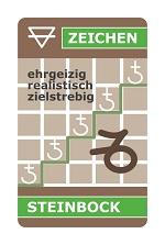 astroCard Tierkreiszeichenkarte Steinbock zur Erklärung der aktuellen Konstellationen.