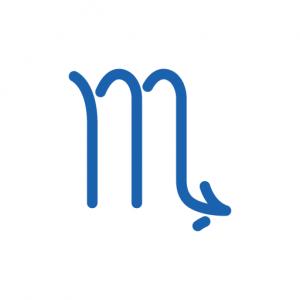 In der Astrologie ist das abgebildete Zeichen das Symbol für das Tierkreizeichen Skorpion.