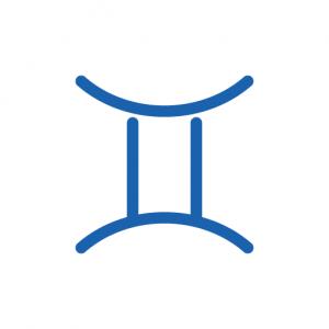 Symbol für das Tierkreizeichen Zwillinge.
