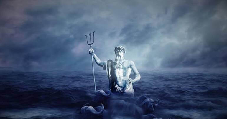 Neptun und Jupiter