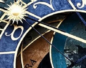 Astrouhr als symbol für Zxklen und Rhythmen in der Astrologie.